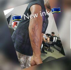 Curaçao outline tattoo maps    Lower Arm byrons