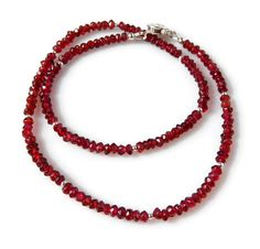 Red Garnet Necklace Garnet Jewelry Sterling Silver by MsBsDesigns, $60.00