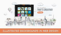 Illustrated Backgrounds in Web Design