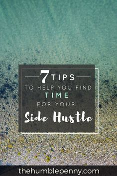 Do you struggle to find time to start a business or a side hustle? Ever wonder how others do it? Check out my tips to help you find time for your hustle.