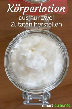 Goodbye body lotion - Rich care lotion made up of just two .- Body-Lotion adé – Reichhaltige Pflege-Lotion aus nur zwei Zutaten selber machen This lightning fast homemade body lotion is perfect for my dry skin and I am sure that you will love it too. Aloe E Vera, Advantages Of Green Tea, Homemade Body Lotion, Belleza Diy, Diy Beauté, Skin Care Masks, Skin Structure, Neutrogena, Body Butter