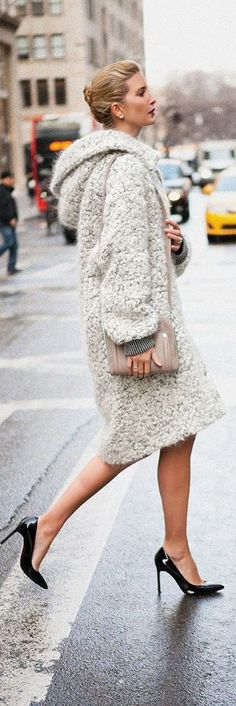 | Fabulous off white textured long coat