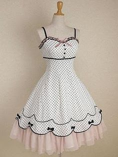 I have a white and black polka dot halter dress that is begging for a refashion now.
