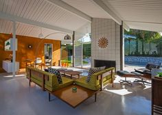 Eichler home, architecture, mid century | Plastolux - I like the room divider they made between the dining room and living room.