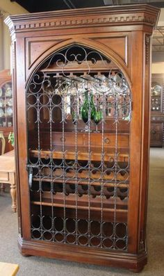 Wine Cabinet / Bar with Arched Door   Price: $3600.00   Available exclusively at:  StillGoode Consignments, Spring, Texas