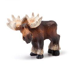 Standing Mini Moose Figurine