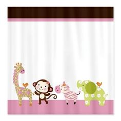 Jungle Jill Girl Animals Shower Curtain