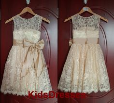 Princess Lace Bow Trimmed Baby Girl SatinPrincess by kidsdresses, $42.00