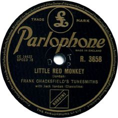 78 RPM - Frank Chacksfield's Tunesmiths - Little Red Monkey / Roundabouts And Swings - Parlophone - UK - R. 3658