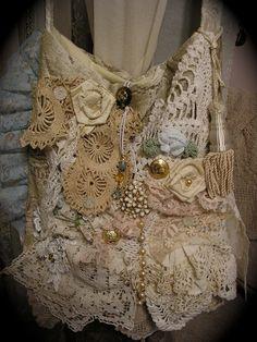 Victorian Gypsy Bag handmade shabby romantic by TatteredDelicates,