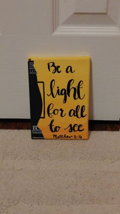 Be a Light - Matthew 5:16 Canvas // Scripture Wall Art by PromesasPintadas on Etsy