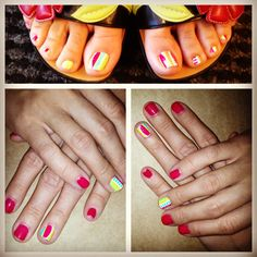 Minx-a-Pair Mani + Minx Pedi by The Nail Concierge #nailart #minxnails
