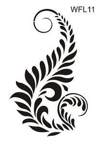 Floral wall stencil reusable 17 various designs pattern damask border series   eBay
