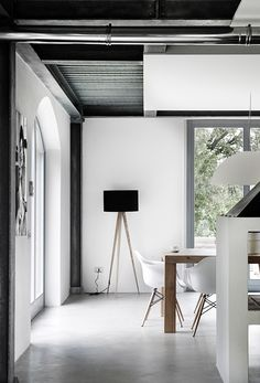 Modern Living Spaces // crisp white interior at the Villa Vergelle in Tuscany