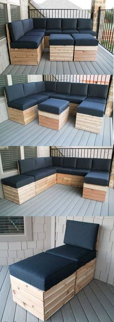 How clever is this! This modular outdoor seating can be rearranged to fit your outdoor space :) BTW we have more outdoor furniture ideas for you on our site at http://theownerbuildernetwork.co/6a72 Is this concept a WIN or FAIL?