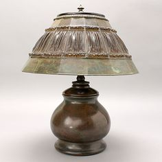 Tiffany Studios Linen Fold Lamp, from Michaan's Auctions