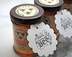 Mariage personnalisé favor tags, étiquettes de miel, 50. Destiné à la conception…