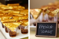 Mini French Toast...would be cute at a brunch