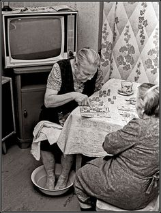 """USSR. Life in the 80s. Playing """"loto"""" (bingo) // photo by Vladimir Rolov."""