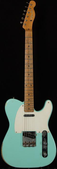 Refinished 1959 Fender Telecaster in Daphne Blue.