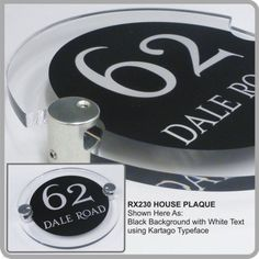 RX230 Modern Acrylic House Signs & House Address Nameplates from De-signage