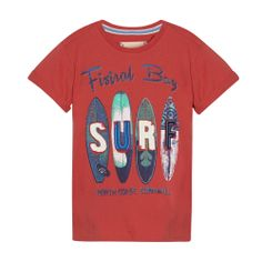 Boy's red 'SURF' t-shirt - Kids - Debenhams.com