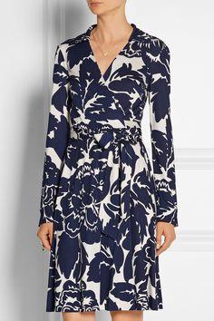 Diane von Furstenberg|Robe portefeuille en jersey de soie imprimé|NET-A-PORTER.COM
