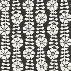 Obliquity Black Floral Black Wallpaper, Modern Wallpaper, Lit Wallpaper, Wallpaper Samples, Brewster