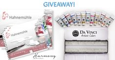 Hahnemühle Harmony Paper & 12 Tubes of Da Vinci Watercolor Giveaway!