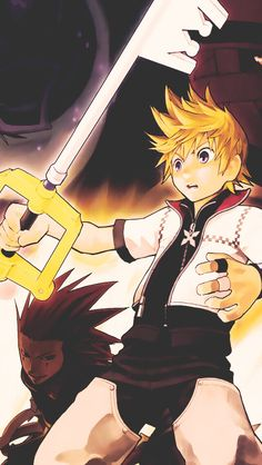 Kingdom Hearts - Axel and Roxas Kingdom Hearts Worlds, Roxas Kingdom Hearts, Heart Group, Chain Of Memories, Heart Iphone Wallpaper, Heart Pictures, New Journey, Final Fantasy, Game Art