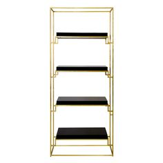 Worlds Away Shadow Gold Black Etagere