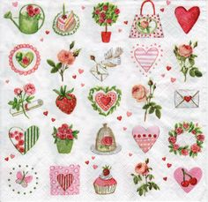 Decoupage Paper Napkins All is Love (1x Napkin) - ideal for Decoupage, Collage, Mixed Media, Crafts