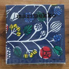 【楽天市場】マリメッコ 可愛い 4つ折りペーパーナプキン☆KRANSSI blue☆(20枚入り):Pippy 楽天市場店