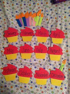 Cupcakes for my birthday bulletin board