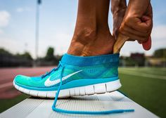 NIKE: free flyknit running shoes