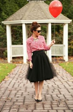 Tulle and plaid