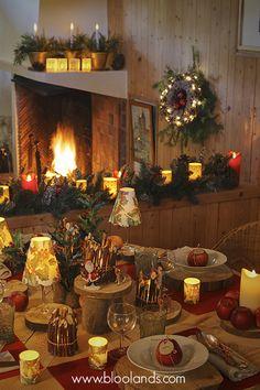 Mise en lumière Bloolands pour un Noël réussi ! Bougie Led, Decoration Table, Winter Wonderland, Table Settings, Artisan, Concept, Fireplaces, Christmas, Warm
