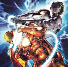 Ironman Vs Whiplash Comic