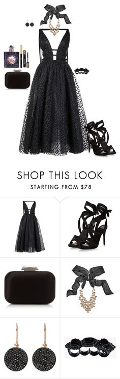 """Untitled #8887"" by erinlindsay83 ❤ liked on Polyvore featuring Carolina Herrera, Jimmy Choo, GUESS by Marciano, Astley Clarke, Dsquared2 and Yves Saint Laurent"