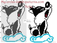 Baby Sylvester Looney Tunes on the cloud cross stitch pattern free
