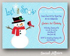 Winter wonderland invitation wording party planning pinterest winter wonderland snowman birthday invitation by socialaffairs 1250 stopboris Choice Image