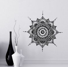 "Mandala Wall Decal Yoga Studio Vinyl Sticker Decals Ornament Moroccan Pattern Namaste Lotus Flower Home Decor Boho Bohemian Bedroom Art ✦ Available sizes (approximate):  Please note that images may not reflect exact size.  15"" tall x 15"" wide (38 cm x 38 cm) 22"" tall x 22"" wide (56 cm x 56 cm) 28"" tall x 28"" wide (72 cm x 72 cm) 38"" tall x 38"" wide (96 cm x 96 cm)  If you need a different size, please feel free to ask. Prices may vary.  ✦ Choose the color of your decal from our color chart…"