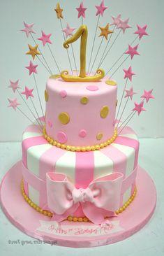 First Birthday Cakes New Jersey - Stars Custom Cakes
