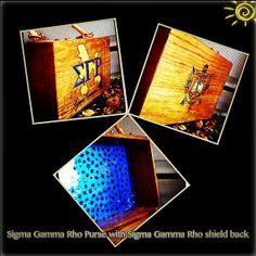 Sigma Gamma Rho Woodburned Purse with Bamboo Handle