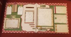 This fun kit is a double page 12x12 layout in muted colors. There are lots of places for photos as well as space to journal your own Journey. Kit includes 9 sheets of paper from different manufacturer