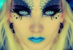 * Mermaid - Face - Beautiful !!  Blue eyes