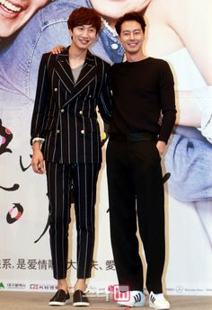 """[2014.07.15] Lee Kwang Soo and Jo In Sung at the """"It's Okay, That's Love"""" press conference"""