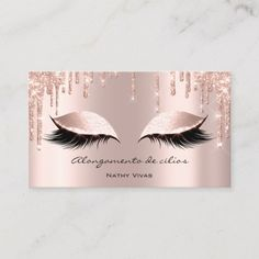 Makeup Artist Eyes Lashes Glitter Drips Rose Brown Business Card - Stand out from your competition. Gold Business Card, Makeup Artist Business Cards, Business Card Size, Business Card Design, Black Makeup Artist, Nail Designer, Eyelash Extensions, Bunt, Logo Design