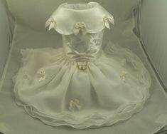 Small dog dress. Wedding Bridal by Poshdog. Ivory. by poshdog