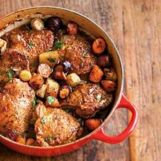 Beer Braised Chicken With Root Vegetables